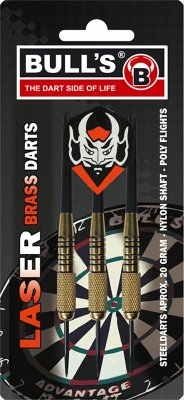 Bulls 3 Steeldart Laser Brass Darts 20