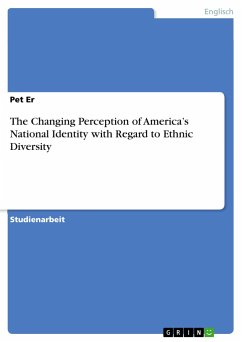 The Changing Perception of America's National Identity with Regard to Ethnic Diversity