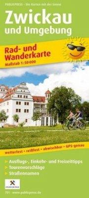 PublicPress Rad- und Wanderkarte Zwickau und Um...