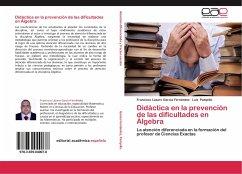 Didáctica en la prevención de las dificultades en Álgebra
