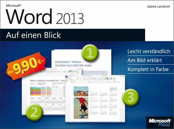Microsoft Word 2013 auf einen Blick - Lambrich, Sabine