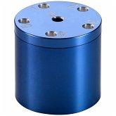 BestSaller 3005 - SUPER SIX Premium Aluminum blau, 36 Spielstäbchen & 2 Würfel