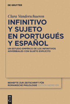 Infinitivo y sujeto en portugués y español - Vanderschueren, Clara