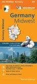 Germany Midwest - Michelin Regional Map 543