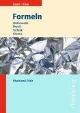 Formeln Mathematik, Physik, Technik, Chemie. Ausgabe Rheinland-Pfalz