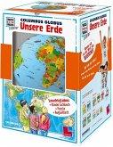 Was-Ist-Was Junior Columbus Globus Unsere Erde, Fuß in orange u. weißer Halbmeridian / Columbus Globen