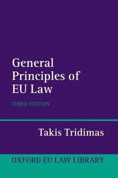 The General Principles of EU Law - Tridimas, Takis