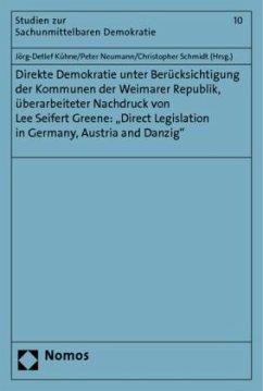 Direkte Demokratie unter Berücksichtigung der Kommunen der Weimarer Republik