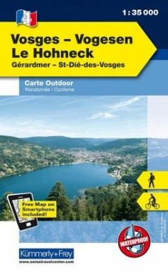 Kümmerly & Frey Outdoorkarte Elsass, Vogesen - Vosges/Vogesen - Le Hohneck