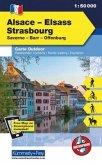 Kümmerly & Frey Outdoorkarte Elsass, Vogesen - Alsace/Elsass, Strasbourg