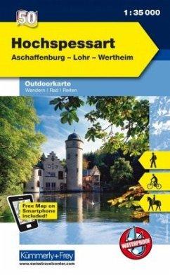 Kümmerly & Frey Outdoorkarte Hochspessart