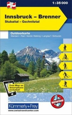 Kümmerly+Frey Outdoorkarte Österreich - Innsbruck - Brenner