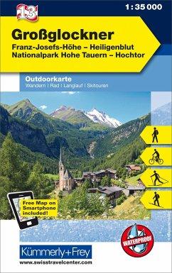 Kümmerly & Frey Outdoorkarte Österreich - Großglockner