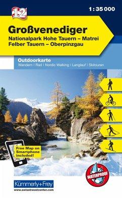 Kümmerly+Frey Outdoorkarte Österreich - Großvenediger