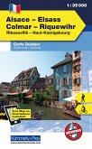 Kümmerly & Frey Outdoorkarte Elsass, Vogesen - Alsace/Elsass, Colmar, Riquewihr