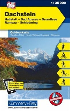 Kümmerly & Frey Outdoorkarte Österreich - Dachstein