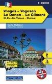 Kümmerly+Frey Outdoorkarte Elsass, Vogesen - Vosges/Vogesen, Le Donon, Le Climont