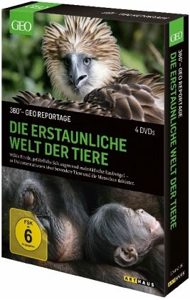 360 geo reportage die erstaunliche welt der tiere 4 discs film auf dvd. Black Bedroom Furniture Sets. Home Design Ideas
