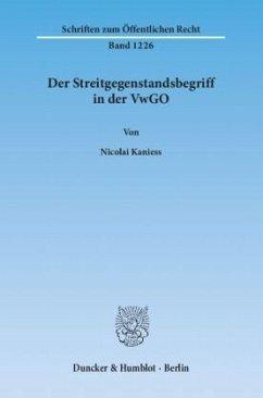 Der Streitgegenstandsbegriff in der VwGO - Kaniess, Nicolai