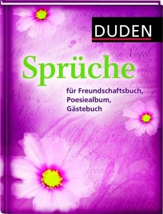 duden spr che f r freundschaftsbuch poesiealbum g stebuch m ngelexemplar buch b. Black Bedroom Furniture Sets. Home Design Ideas
