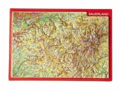 Reliefpostkarte Sauerland