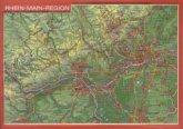 Reliefpostkarte Rhein-Main-Region