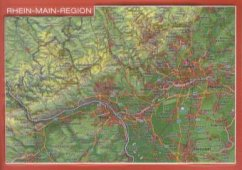 Reliefpostkarte Rhein-Main-Region - Markgraf, André; Engelhardt, Mario