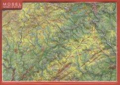 Reliefpostkarte Mosel