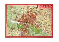 Reliefpostkarte Hamburg