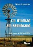 Ein Windrad am Namibrand