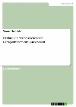 Evaluation webbasierender Lernplattformen: Blackboard