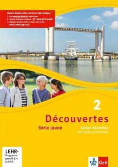 Découvertes Série jaune 2. Cahier d'activités mit MP3-CD und Video-DVD