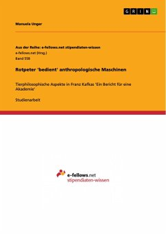 Rotpeter 'bedient' anthropologische Maschinen