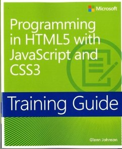 Training Guide: Programming in HTML5 with JavaScript and CSS3 - Johnson, Glenn