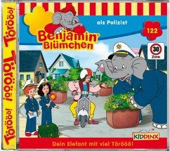 Benjamin Blümchen als Polizist / Benjamin Blümchen Bd.122 , 1 Audio-CD
