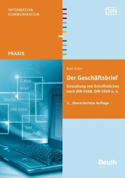 Der Geschäftsbrief Von Karl Grün Portofrei Bei Bücherde Bestellen