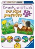 Ravensburger 07313 - Tiere im Garten, Puzzle, 9 x 2 Teile