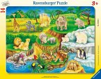 Ravensburger 06052 - Zoobesuch Rahmenpuzzle, 14 Teile