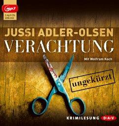Verachtung / Carl Mørck. Sonderdezernat Q Bd.4 (2 MP3-CDs) - Adler-Olsen, Jussi