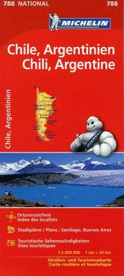 Michelin Karte Chile, Argentinien; Chili, Argentine