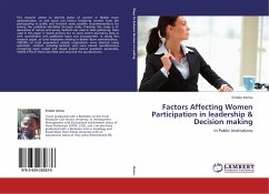 Factors Affecting Women Participation in leadership & Decision making