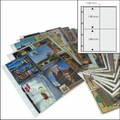 Postkarten-Folienblätter transparent