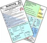Beatmung - Grundlagen, Einstellungen & Normwerte - Medizinische Taschen-Karte