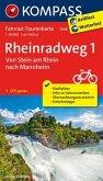 Kompass Fahrrad-Tourenkarte Rheinradweg