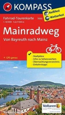 Kompass Fahrrad-Tourenkarte Mainradweg, Von Bay...