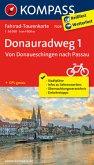 Fahrrad-Tourenkarte Donauradweg 1, Von Donaueschingen nach Passau