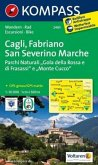 Kompass Karte Cagli, Fabriano, San Severino Marche