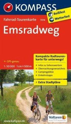 Kompass Fahrrad-Tourenkarte Emsradweg