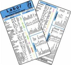 Labor Normwerte - Medizinische Taschen-Karte