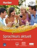 Spanisch ganz leicht - Sprachkurs aktuell, Buch + Grammatiktafel + 4 Audio-CDs